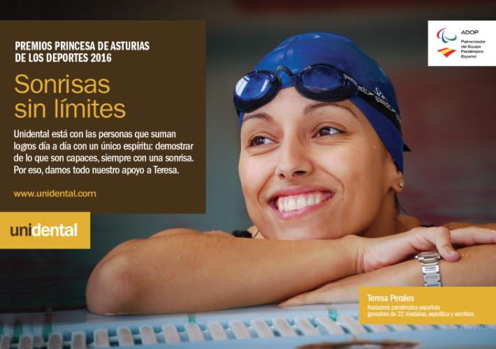 Unidental apoya la candidatura de Teresa Perales al Premio Princesa de Asturias de los Deportes 2016