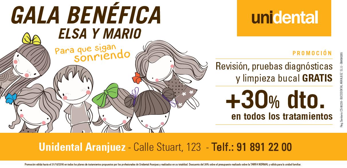 Unidental Aranjuez en la gala benéfica «Aranjuez con Elsa y Mario»