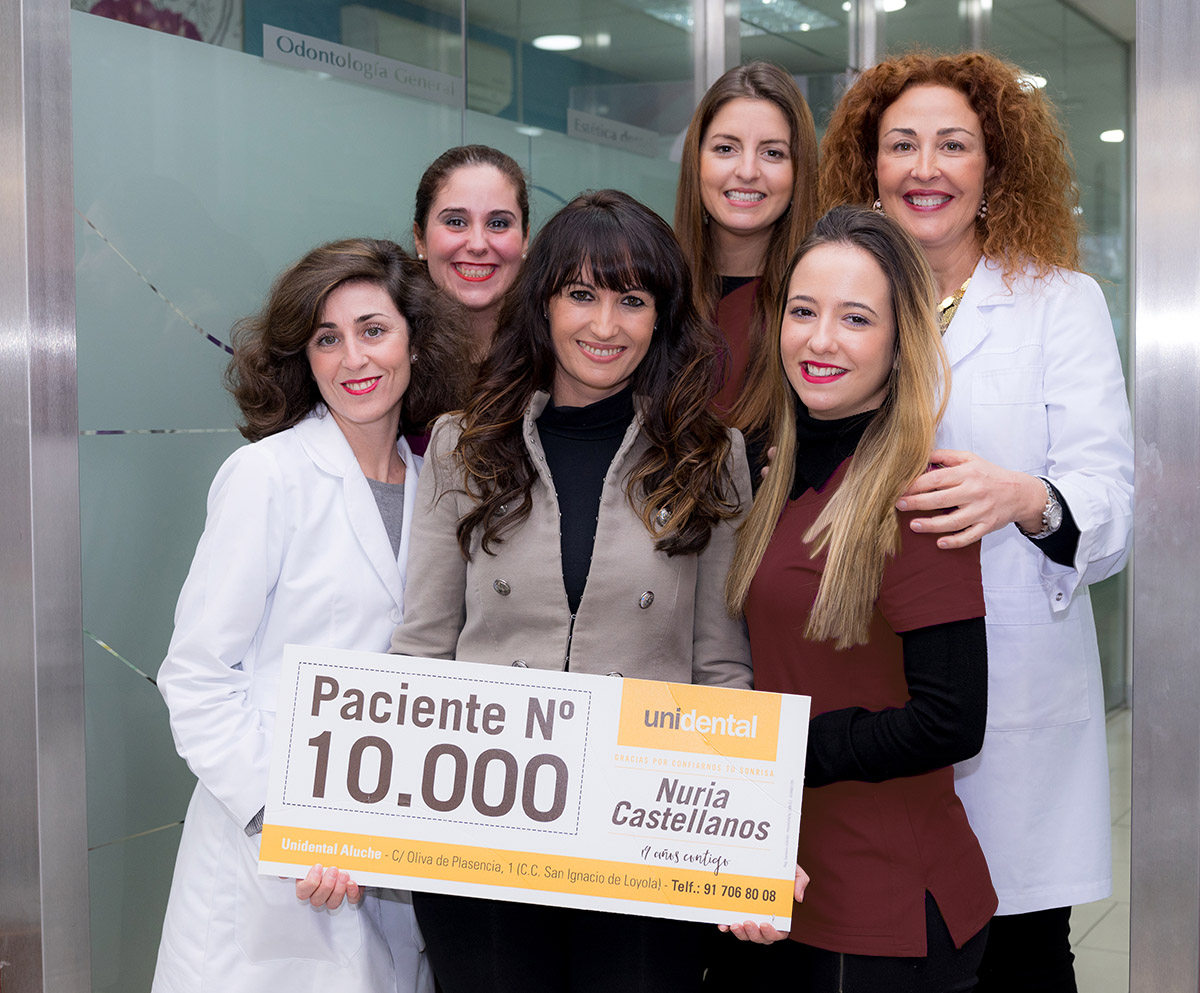 Nuria Castellanos - Paciente 10.000 Clinica Unidental Aluche