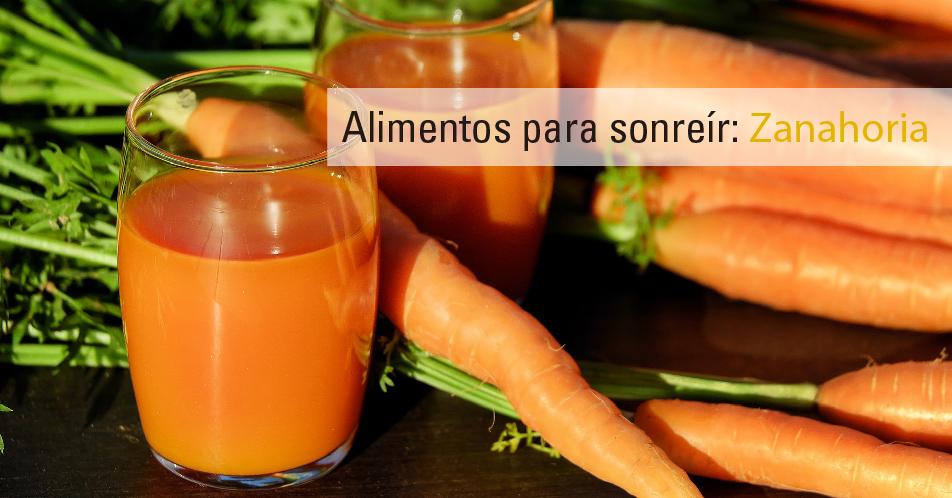Alimentos para sonreír: Zanahoria