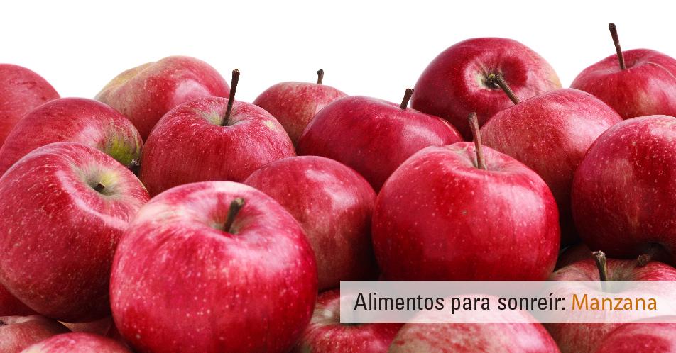 Alimentos para sonreír: Manzanas. Buena salud bucodental