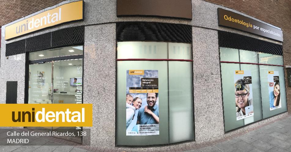 Nueva apertura clínica Unidental en calle General Ricardos, Madrid